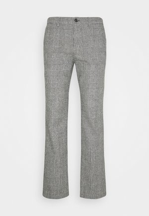 DENTON CHECK PANT - Pantalones chinos - black