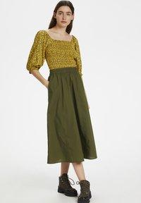 Gestuz - CASSIAGZ  - A-line skirt - dark olive - 1