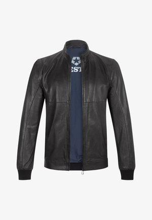 Leather jacket - schwarz