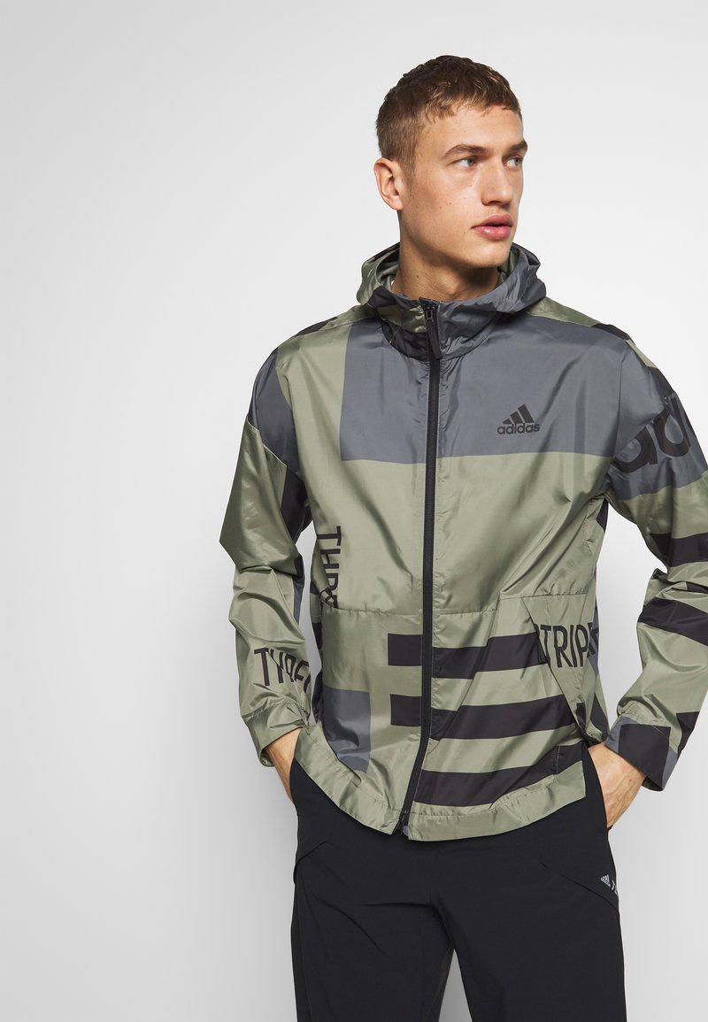 adidas Performance - URBAN ALLOVER PRINT WIND.RDY  - Outdoor jacket - green