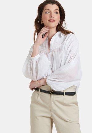SUN BLOUSE - Button-down blouse - white