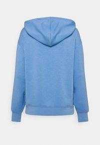 Moss Copenhagen - LOGO HOOD  - Long sleeved top - lake blue - 1