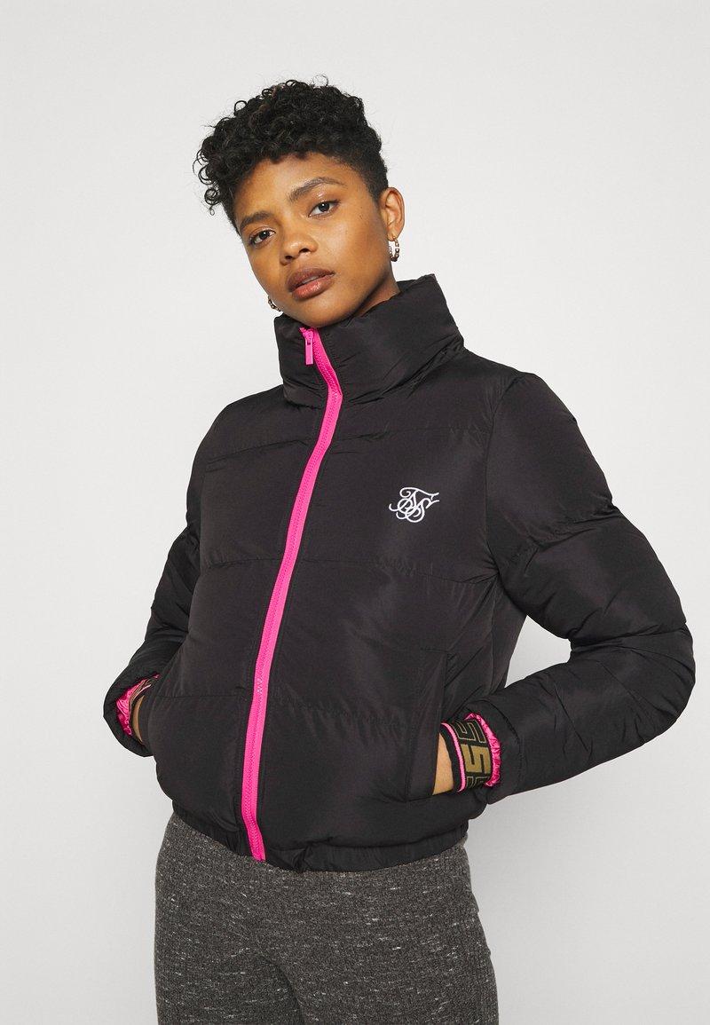 SIKSILK - ROMA CROP JACKET - Winter jacket - black