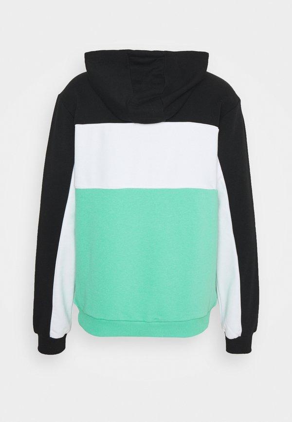 Fila ANALU BLOCKED HOODY - Bluza - biscay green/black/bright white/miętowy Odzież Męska THXA