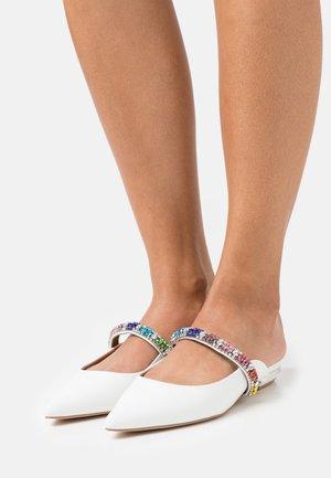 PRINCELY RAINBOW - Pantofle - white