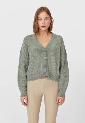 CHENILLE  - Strickjacke - green