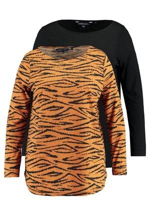 DIPPED HEM 2 PACK - Bluzka z długim rękawem - ginger/black