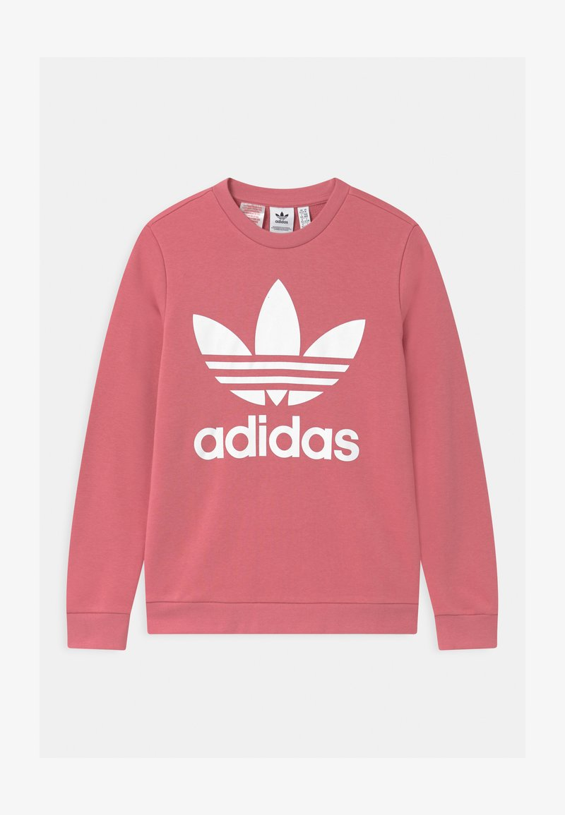 adidas Originals - TREFOIL CREW - Mikina - hazy rose/white