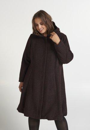 MIT WOLLE - Short coat - bordeaux