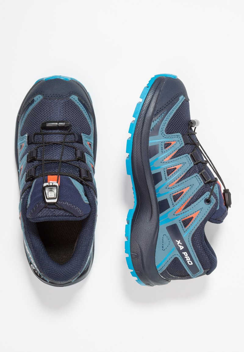 Salomon - XA PRO 3D CSWP - Hiking shoes - navy blazer/mallard blue/hawaiian surf