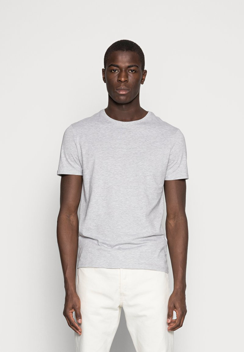 Pier One - Basic T-shirt - light grey melange