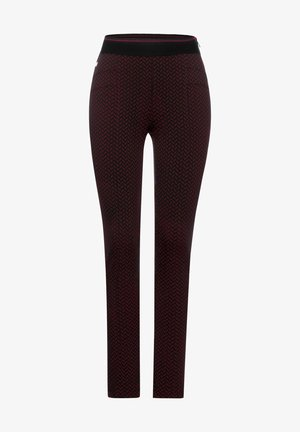 MIT MUSTER - Trousers - rot