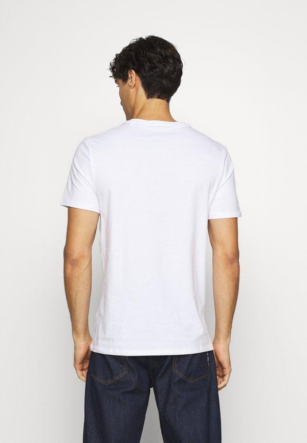 Guess T-shirt z nadrukiem - true white/biały Odzież Męska RSOG
