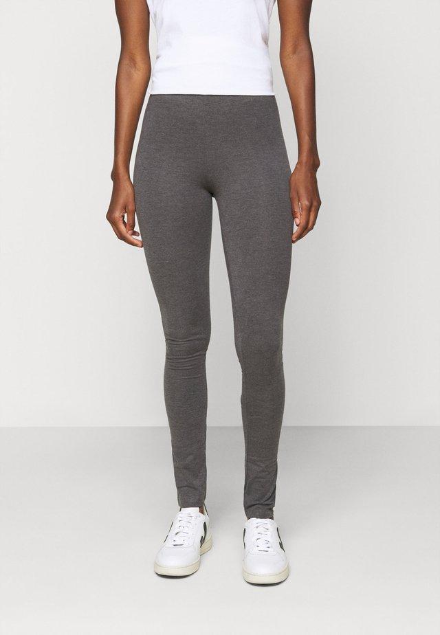 2 PACK - Legging - black/mottled dark grey