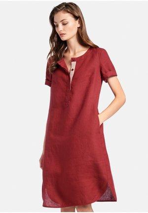 KLEID LEINEN - Korte jurk - bordeaux