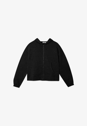 MIT REISSVERSCHLUSS  - veste en sweat zippée - black