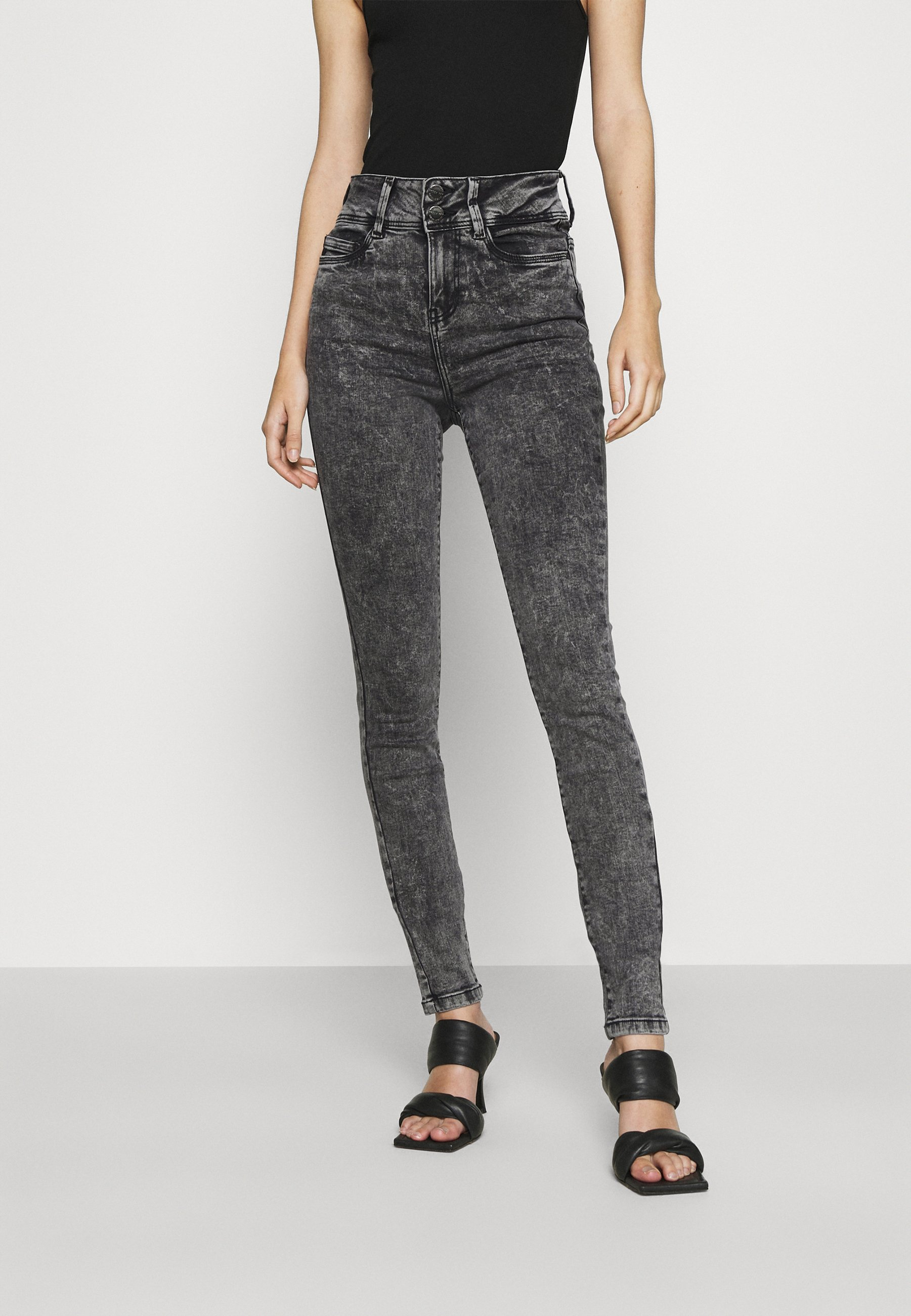 Women NMAGNES BUTTON - Jeans Skinny Fit