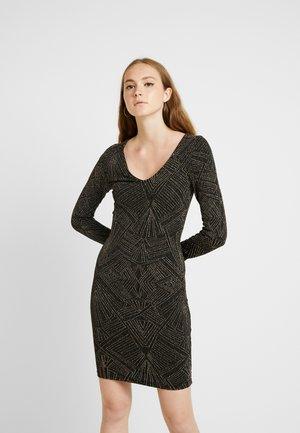 ONLSHINE - Shift dress - black/gold/silver