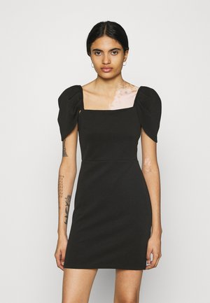 PUFF SLEEVE MINI DRESS - Shift dress - black