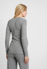 MAMALICIOUS - MLEVITA - Långärmad tröja - medium grey melange melange - 2