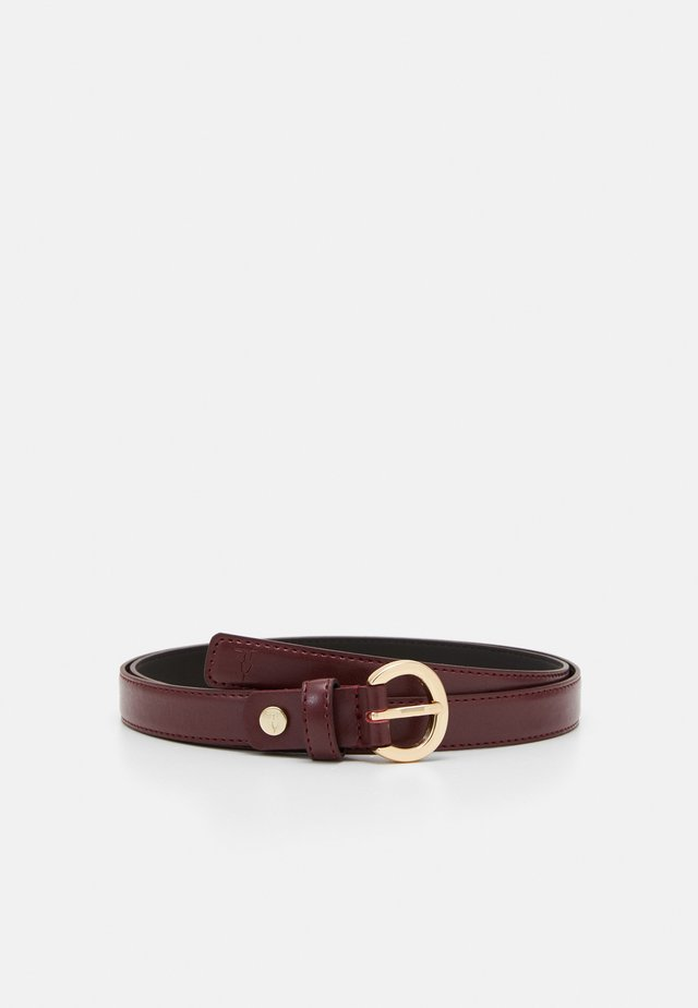 NARROW BELT - Belt - burgundy