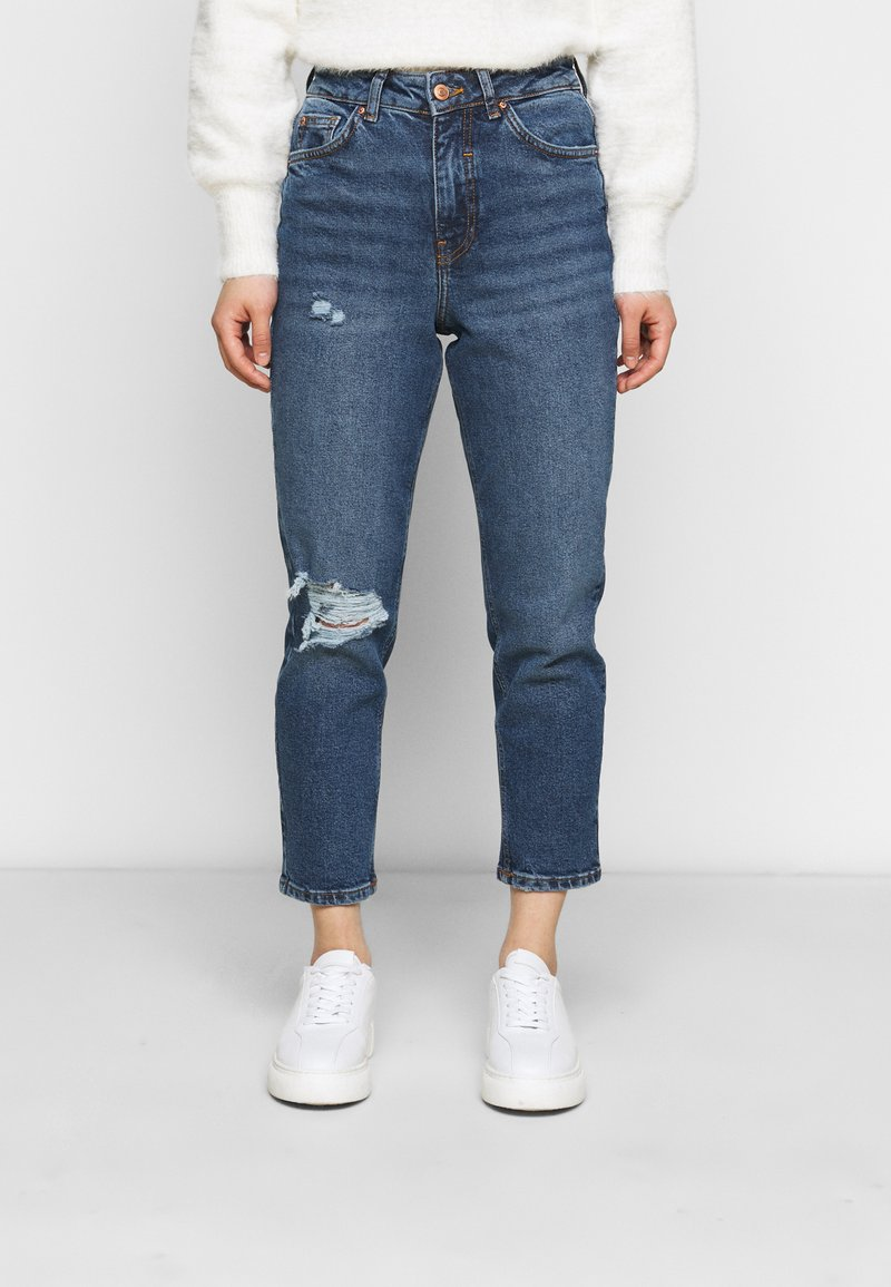 New Look Petite - BUSTED MOM LUCIOUS - Relaxed fit jeans - blue