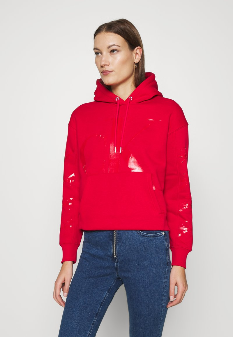 Calvin Klein Jeans - ECO HOODIE - Huppari - red