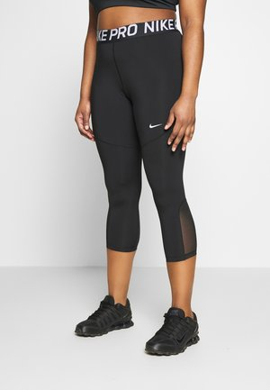 CROP PLUS - Leggings - black/white