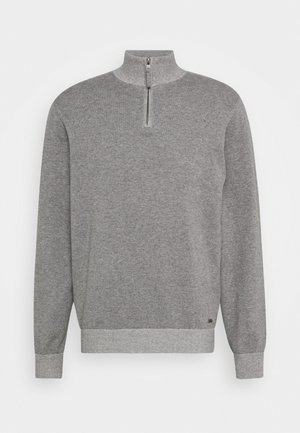 ALPHA PLAITED ZIP - Jumper - gray heather