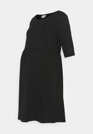 MLELNORA 2/4 SHORT DRESS - Jerseykjoler - black