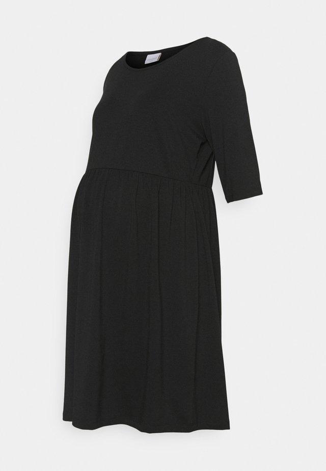 MLELNORA 2/4 SHORT DRESS - Vestito di maglina - black
