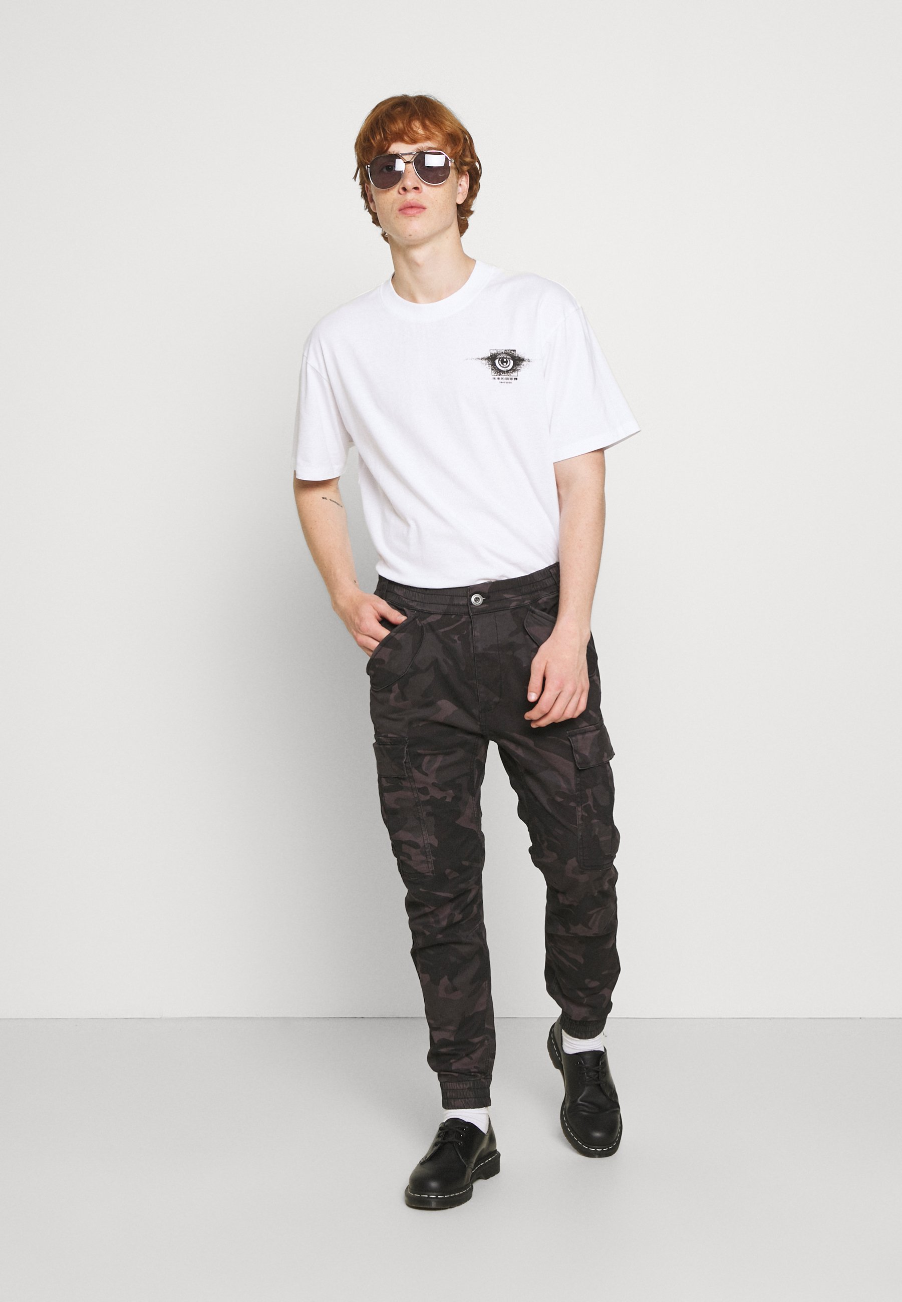 Homme AIRMAN - Pantalon cargo - black