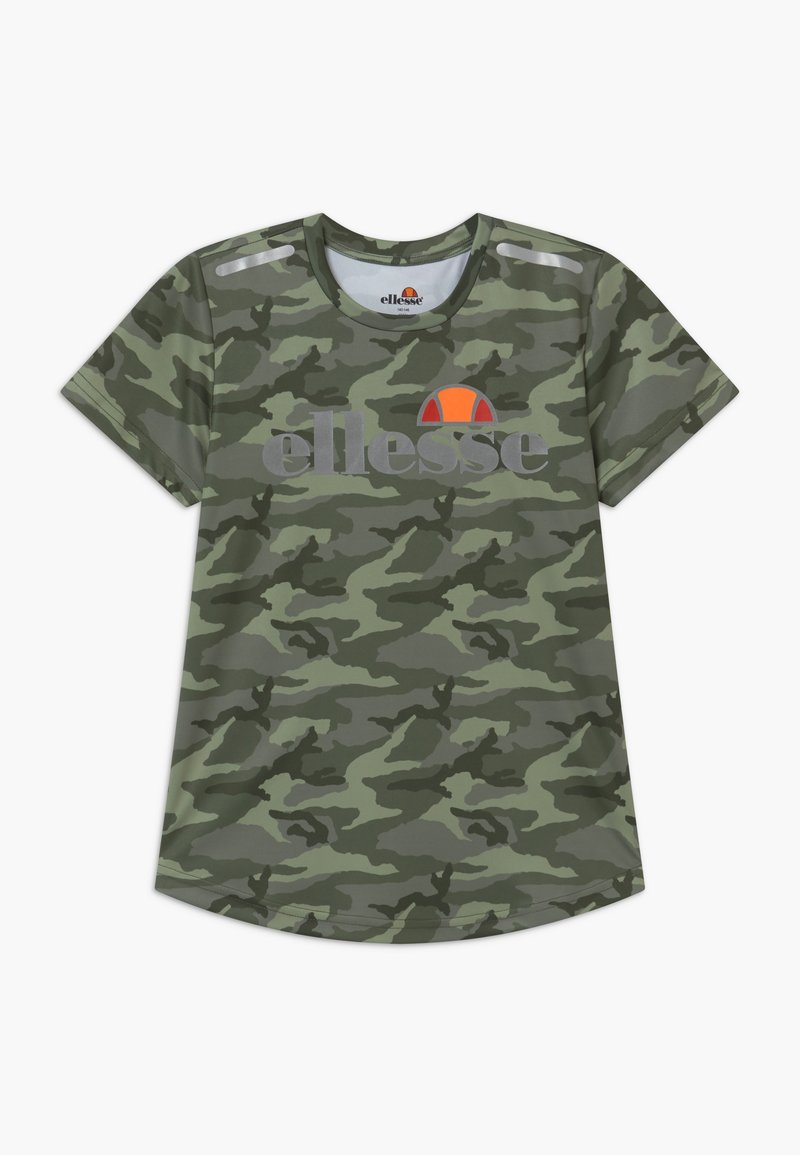 Ellesse - SANDON PERFORMANCE TEE - T-shirt imprimé - khaki
