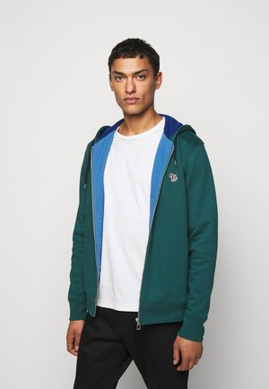 ZIP HOODY - Zip-up hoodie - dark green