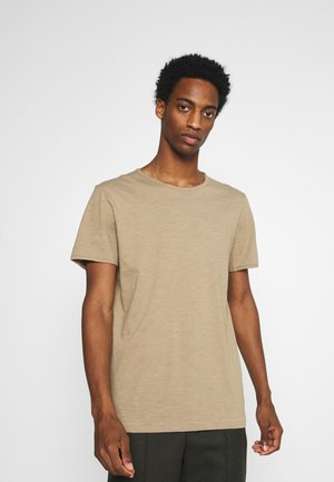 SLHMORGAN O-NECK TEE - T-shirt basic - petrified oak