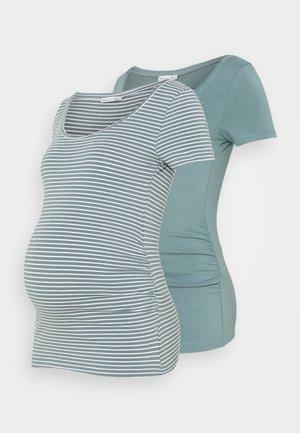 NURSING 2 PACK - Print T-shirt - T-shirt z nadrukiem - teal