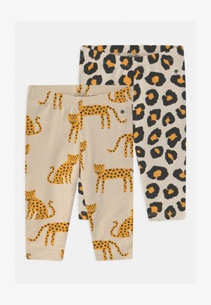 LEO ANIMAL 2 PACK UNISEX - Leggings - Trousers - light beige
