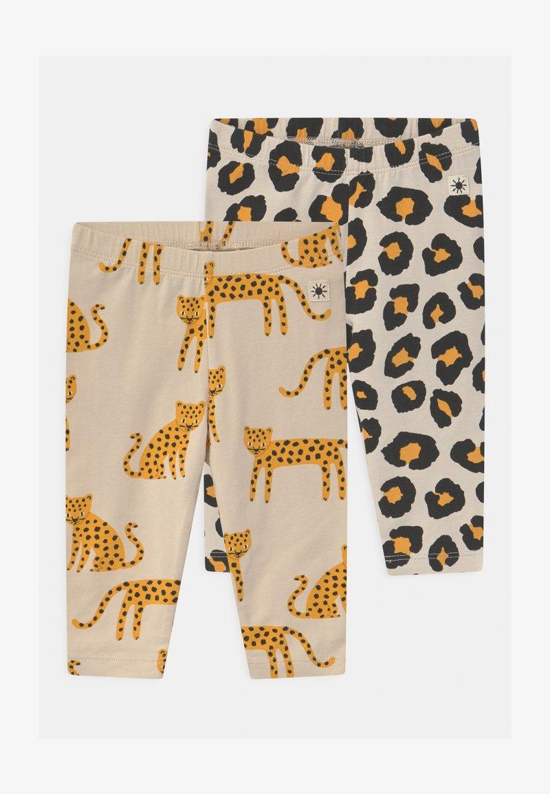 Lindex - LEO ANIMAL 2 PACK UNISEX - Leggings - Trousers - light beige
