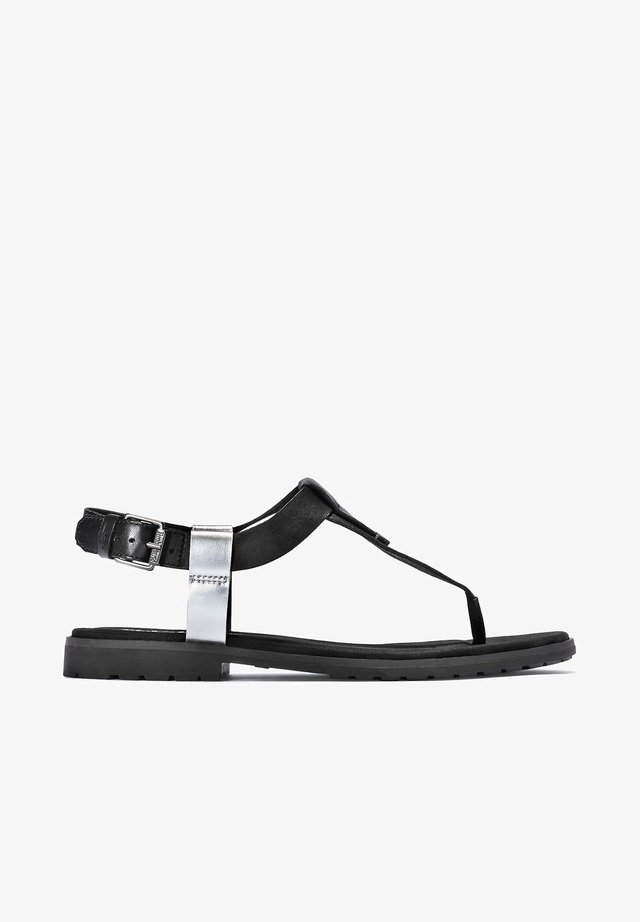 CHICAGO THONG - Ankle cuff sandals - black