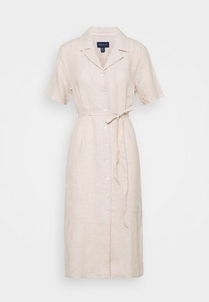 SHIRT DRESS - Vestido camisero - dry sand
