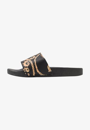 PALAZZO - Pantolette flach - black/yellow