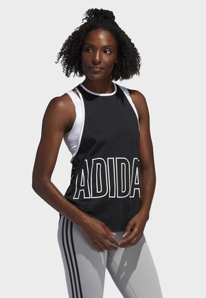 ALPHASKIN GRAPHIC TANK TOP - Linne - black