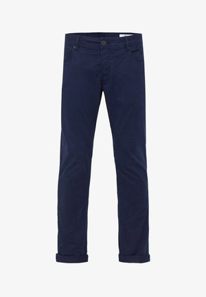 WE FASHION HEREN SLIM TAPERED BROEK - Pantaloni - dark blue