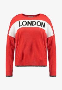 Simply Be - LONDON SLOGAN - Trui - red - 4