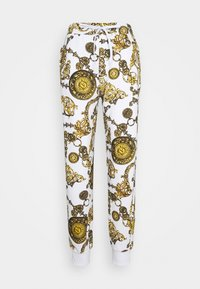 Versace Jeans Couture - PANTS - Tracksuit bottoms - white/gold - 4