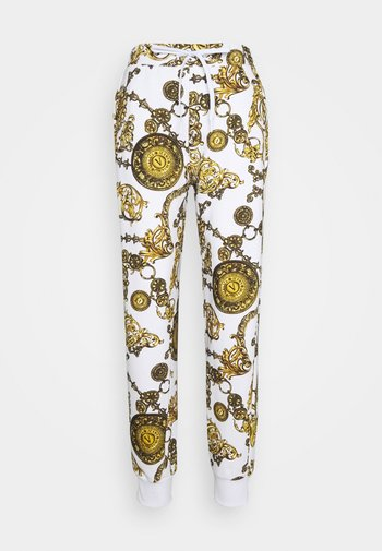 PANTS - Tracksuit bottoms - white/gold