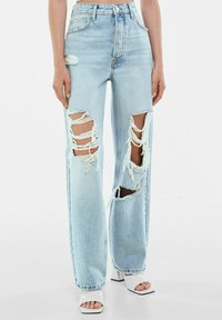 Bershka - Jeansy Straight Leg - light blue - 0