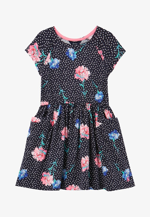 Vestito estivo - marineblau floral