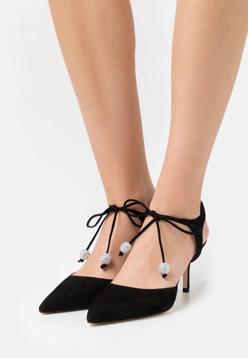 Stuart Weitzman - ORION  - Lace-up heels - black