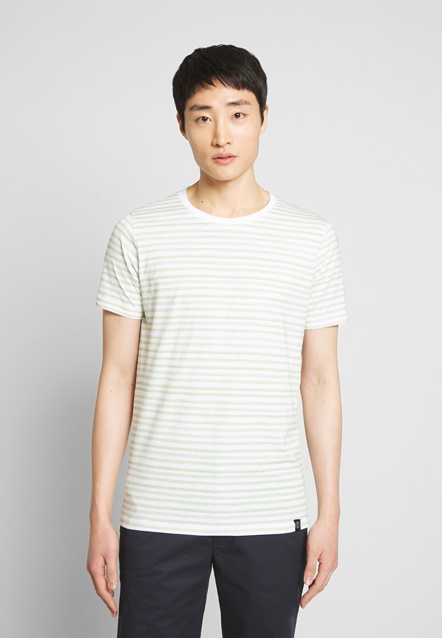 PRINTED STRIPE TEE  - T-shirt con stampa - dusty green